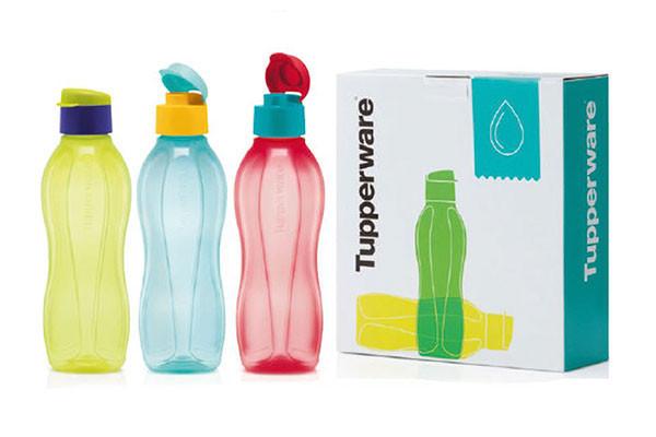 Набор Эко-бутылок 750мл с клапаном (3шт)