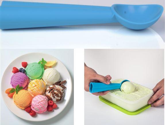 Ложка для мороженного синяя
